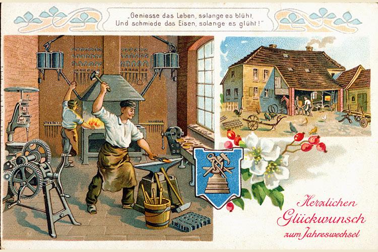 Retro Ansichtskarte - Schmiedestern Berhelsdorf
